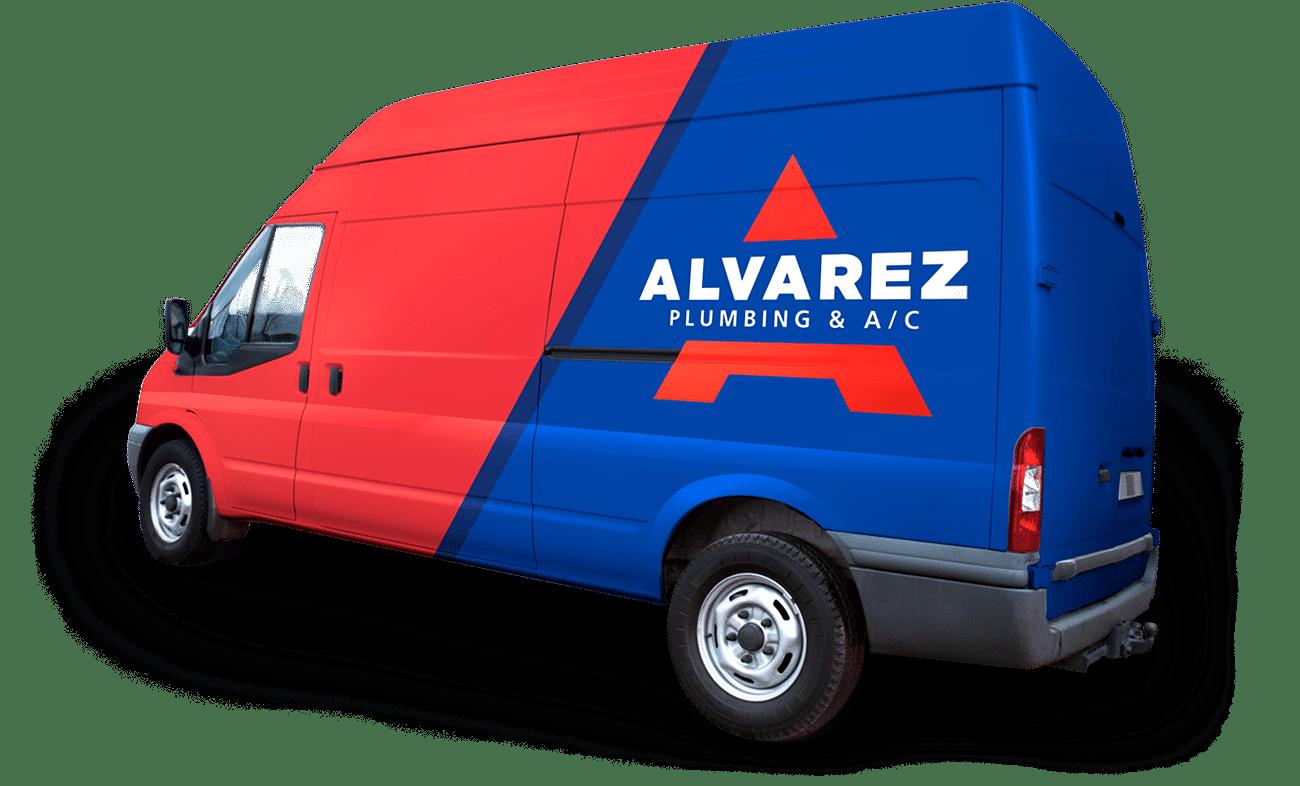 alvarez plumbing ac company truck